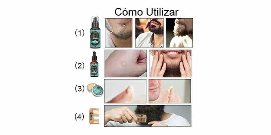 Como utilizar el kit para la barba